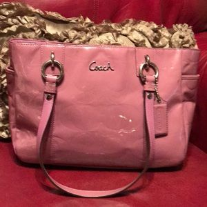 Coach Lavender Patten Leather Bag